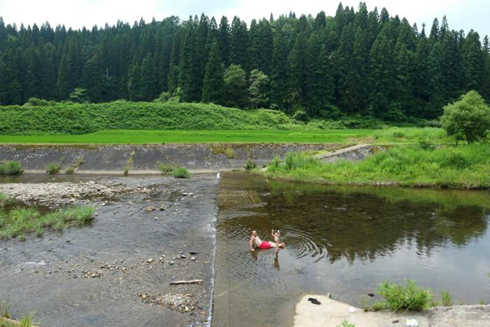 川遊び 真室川